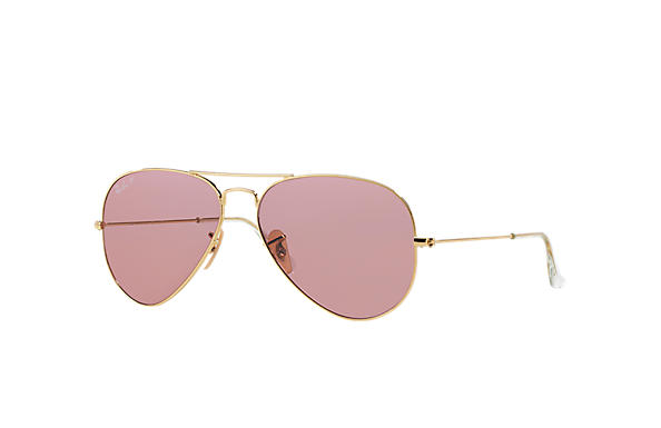 ray ban aviator pink  Ray-Ban Aviator Classic Gold, RB3025