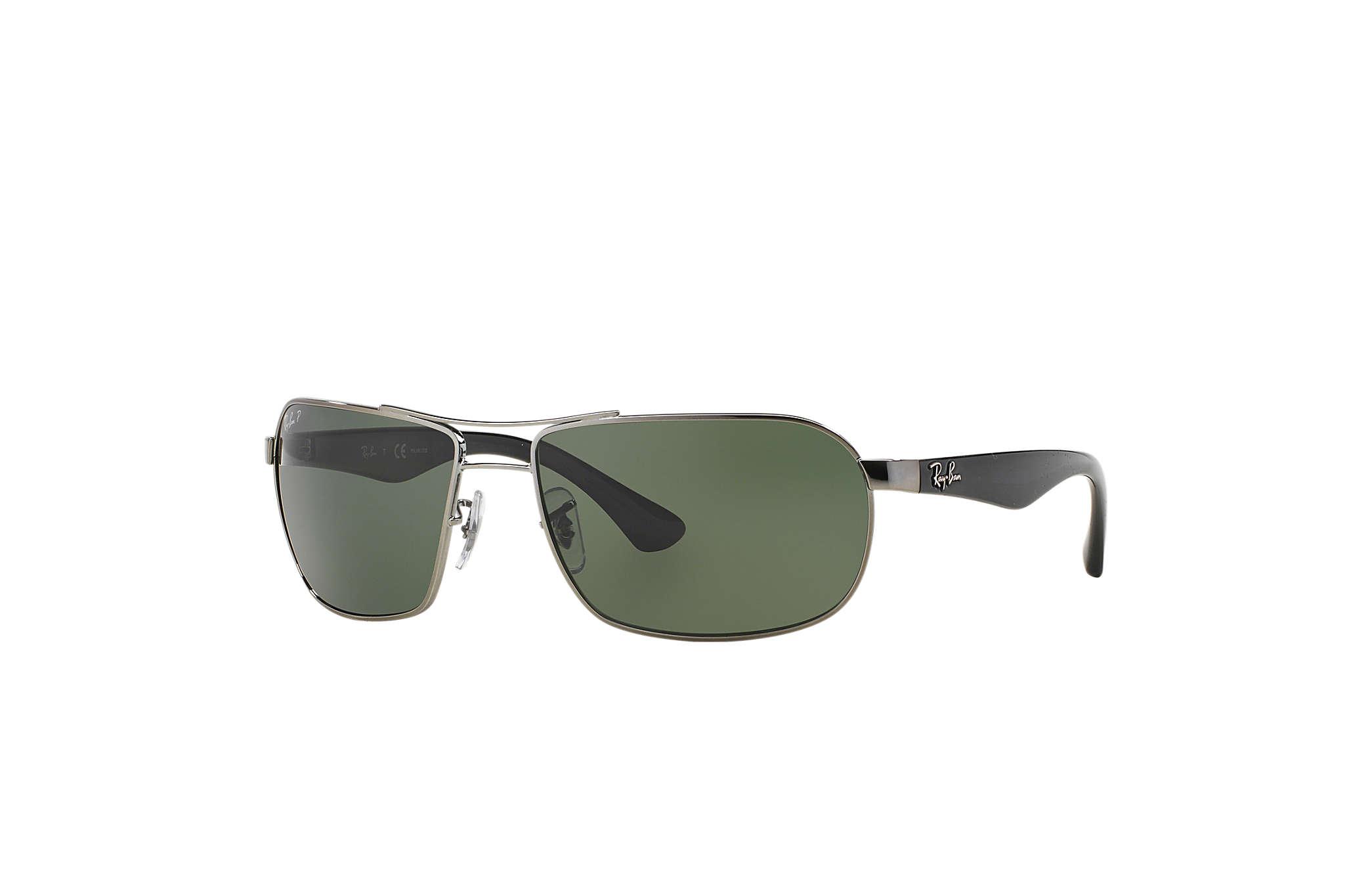 ray ban 3221  Ray-Ban RB3492 Gunmetal Black, Green Lenses