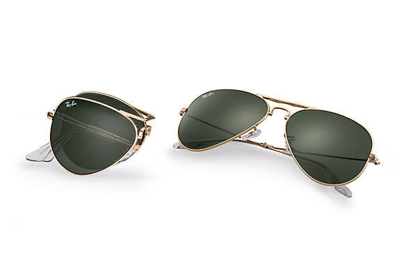 ray ban folding  Ray-Ban Aviator Folding Gold, RB3479