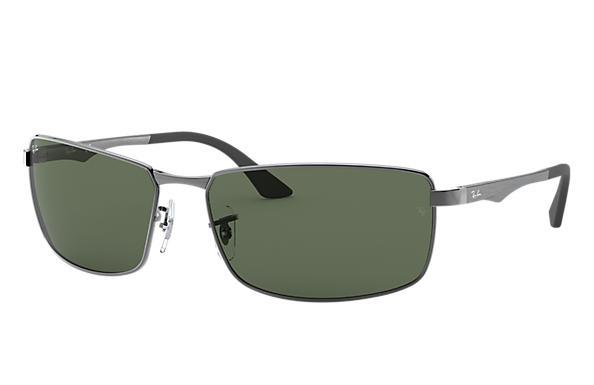 rb3498  Ray-Ban RB3498 Black, Green Lenses