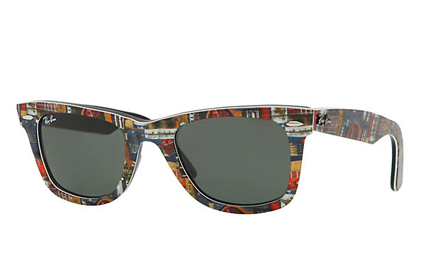 Ray-Ban 0RB2140-ORIGINAL WAYFARER RARE PRINTS Multicolor,Black SUN