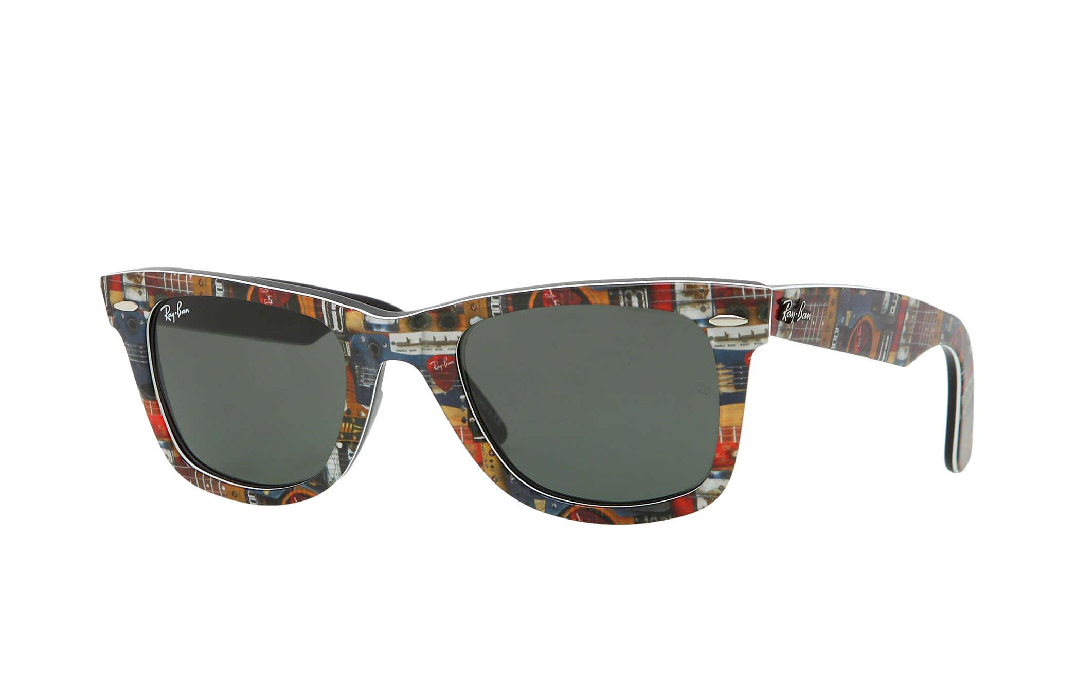 Ray ban sunglasses new design - Ray Ban 0rb2140 Original Wayfarer Rare Prints Multicolor Black Sun