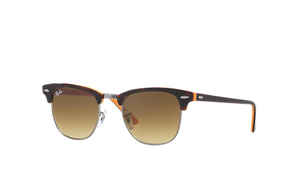 rb3016  Ray-Ban Clubmaster Color Mix Tortoise,Orange, RB3016
