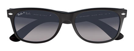Ray-Ban NEW WAYFARER CLASSIC Negro con lente Blue/Grey Degradada