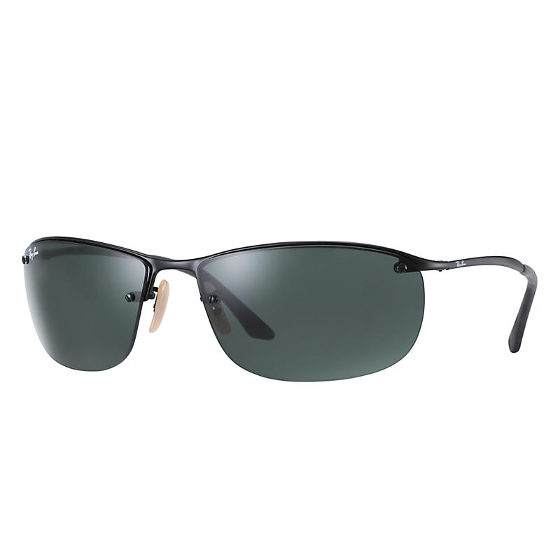 Image of Ray-Ban At Collection Black Sunglasses, Green Lenses - Rb3187
