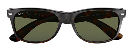 Ray-Ban New Wayfarer Classic Tortoise with Green Classic G-15 lens
