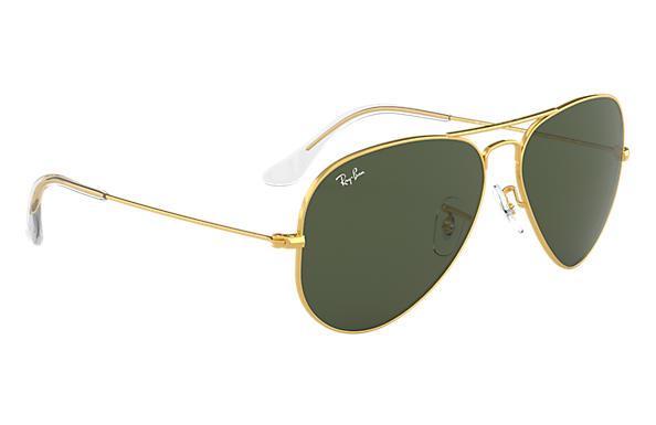 ray ban rb3025 aviator sunglasses gold frame crystal light green  Ray-Ban Aviator Classic Gold, RB3025