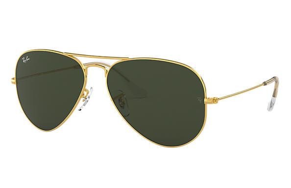 ray ban green polarized aviator  Ray-Ban Aviator Classic Gold, RB3025