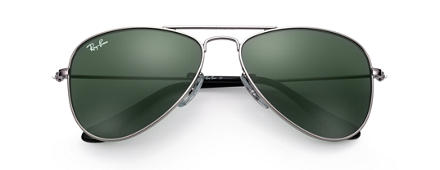 Ray-Ban AVIATOR JUNIOR Gunmetal with Green Classic lens