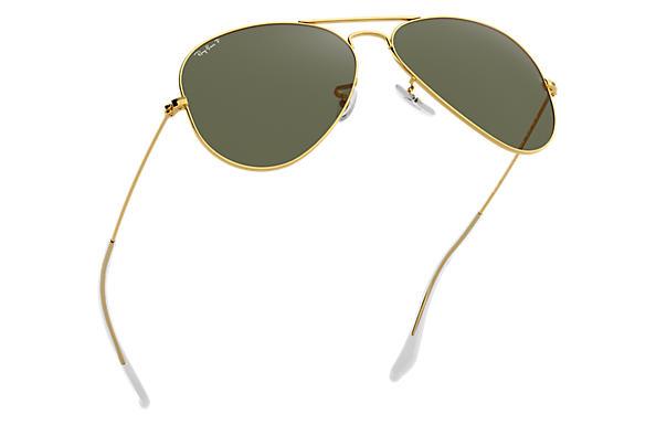 ray ban gold  Ray-Ban Aviator Classic Gold, Polarized Lenses - RB3025