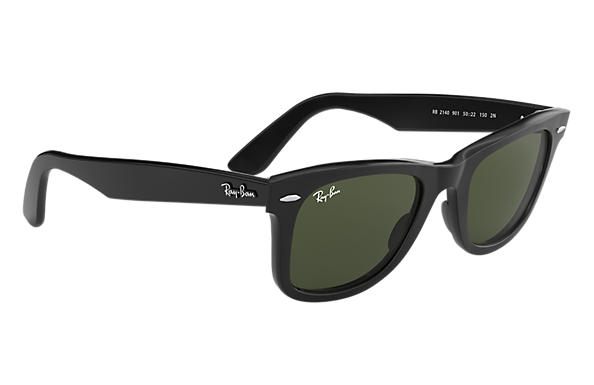 ray ban black wayfarer sunglasses  ORIGINAL WAYFARER CLASSIC Sunglasses Black Acetate, Green Classic ...