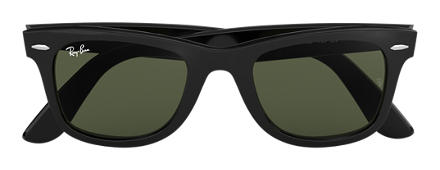 Ray-Ban Original Wayfarer Classic Black with Green Classic G-15 lens
