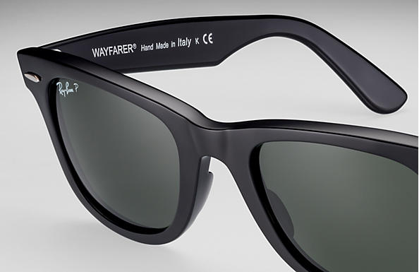 ray ban classic wayfarer black  Ray-Ban Original Wayfarer Classic Black, Polarized Lenses - RB2140 ...