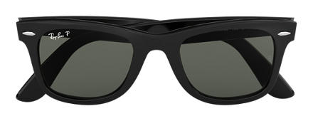 ray ban glasses  ray ban original wayfarer classic black with green classic g 15 lens