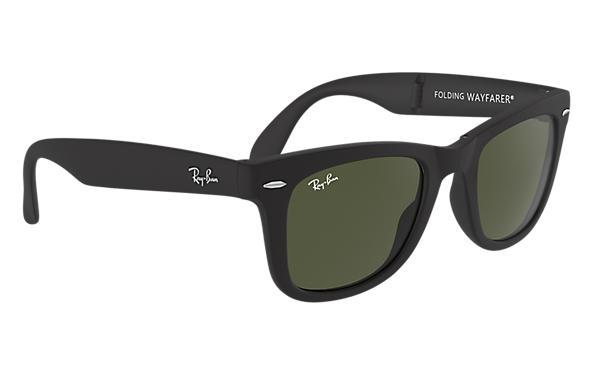 3d87960b825 hot ray ban rb4105 folding wayfarer sunglasses matte black frame cry 1953a  cd4eb