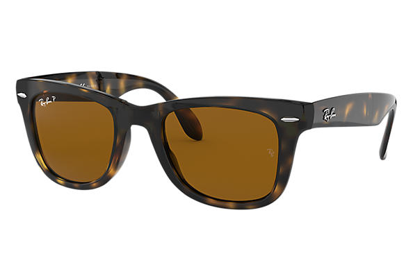 ray ban folding wayfarer sunglasses lite tort  ray ban 0rb4105 wayfarer folding classic tortoise sun