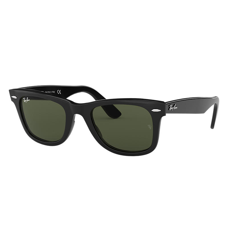 Ray-Ban Original Wayfarer Black Sunglasses, Blue Lenses - Rb2140 8053672503708