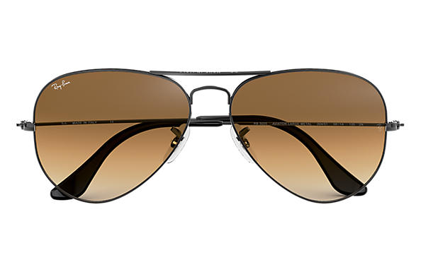 ray ban aviator brown shade  Ray-Ban Aviator Gradient Gunmetal, RB3025