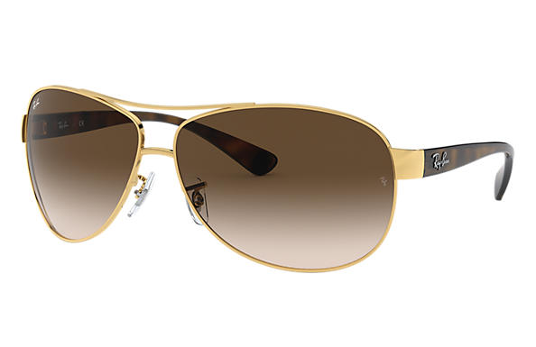 rayban glass  Ray-Ban RB3386 Gold Tortoise, Brown Lenses