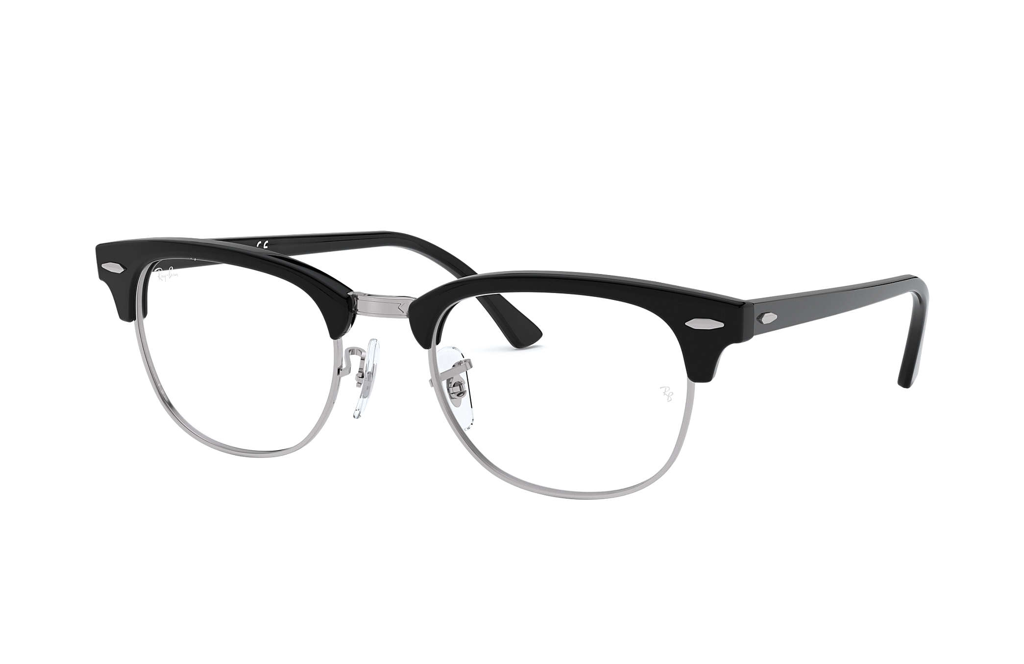white ray ban clubmaster  PDP_META_DATA_EYEGLASSES??? RB5154 Black Acetate