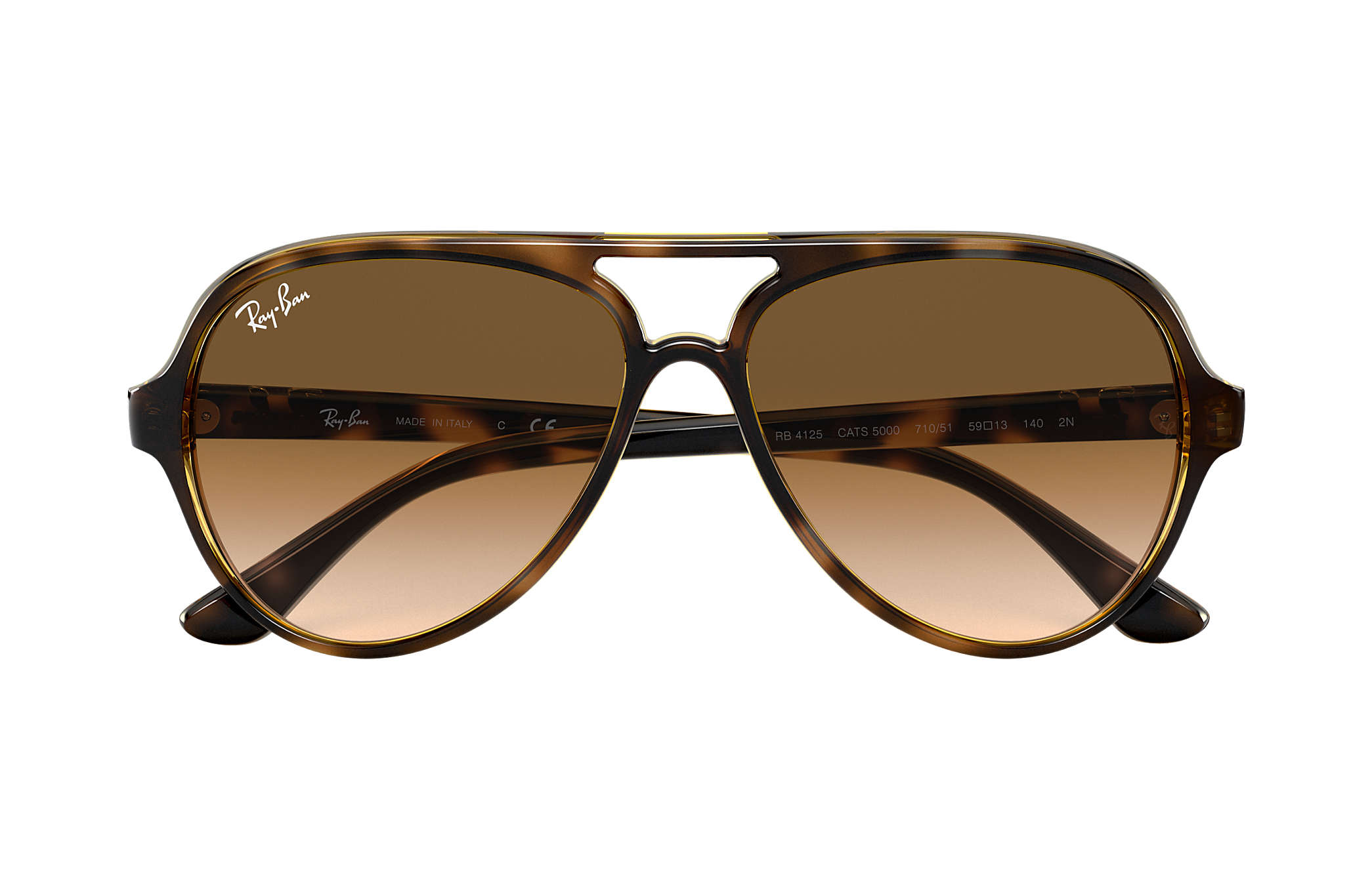 ray ban aviator brown shade  Ray-Ban Cats 5000 Classic Tortoise, RB4125