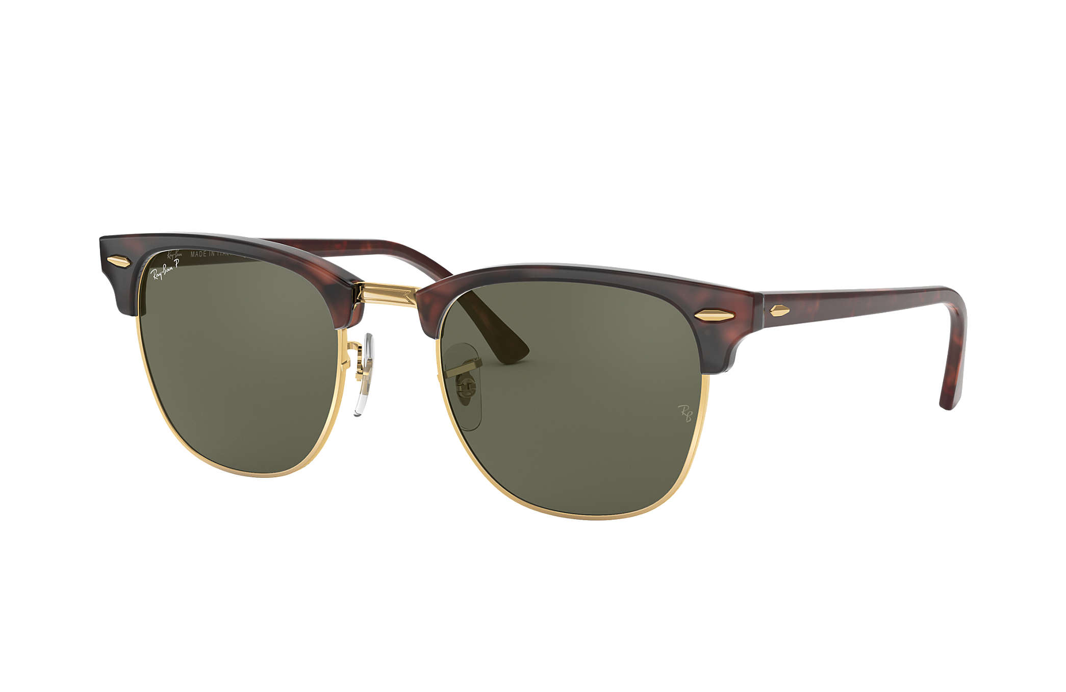 clubmaster classic green classic g 15  Ray-Ban Clubmaster Classic Tortoise, Polarized Lenses - RB3016 ...
