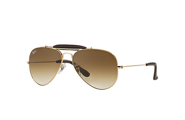 ray ban 3422q sunglasses  ray ban outdoorsman craft gold ,polarized lenses rb3422q