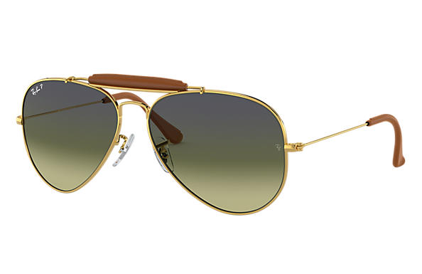 Ray-Ban 0RB3422Q-OUTDOORSMAN CRAFT Gold SUN
