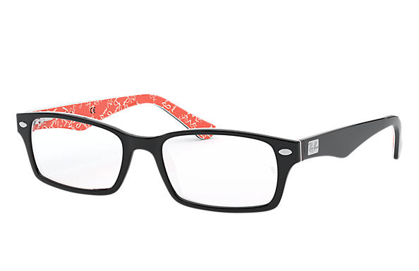 Ray-Ban 0RX5206-RB5206 Noir,Rouge OPTICAL