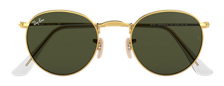 Ray-Ban ROUND METAL Gold with Green Classic G-15 lens