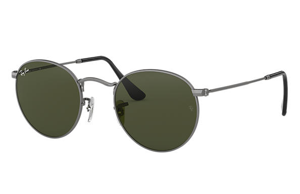 Ray-Ban 0RB3447-ROUND METAL Gunmetal SUN