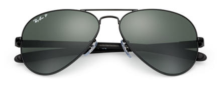 Ray-Ban AVIATOR CARBON FIBRE Black with Green Classic G-15 lens