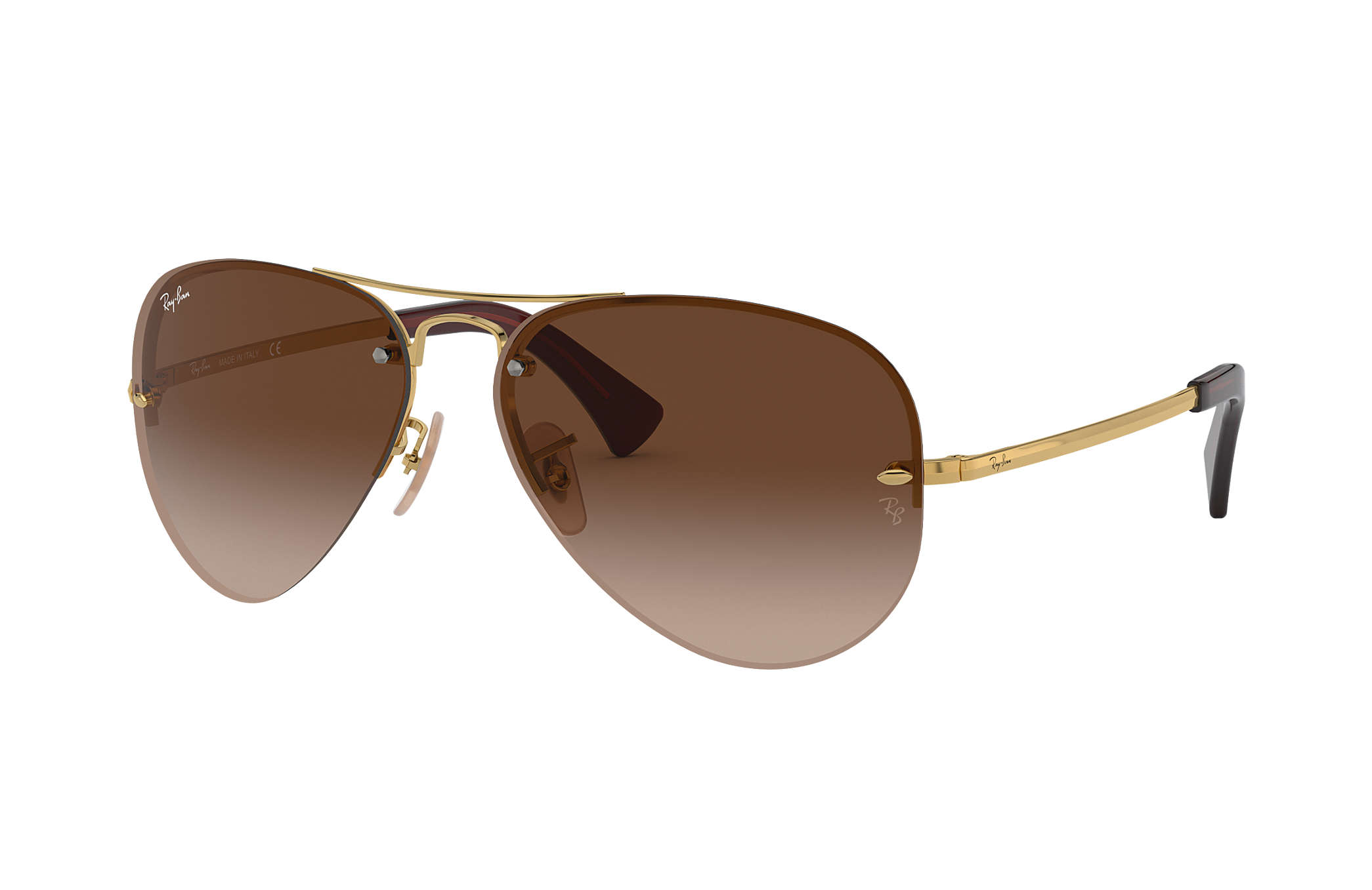 rb3476  Ray-Ban RB3449 Gold, Brown Lenses