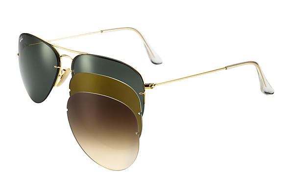 Ray-Ban 0RB3460-AVIATOR FLIP OUT Or SUN
