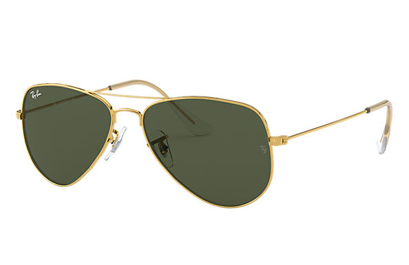 Ray-Ban 0RB3044-AVIATOR EXTRA SMALL Gold SUN