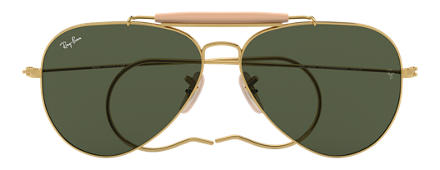 Ray-Ban OUTDOORSMAN Gold with Green Classic G-15 lens