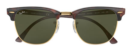 Ray-Ban CLUBMASTER CLASSIC Tortoise with Green Classic G-15 lens