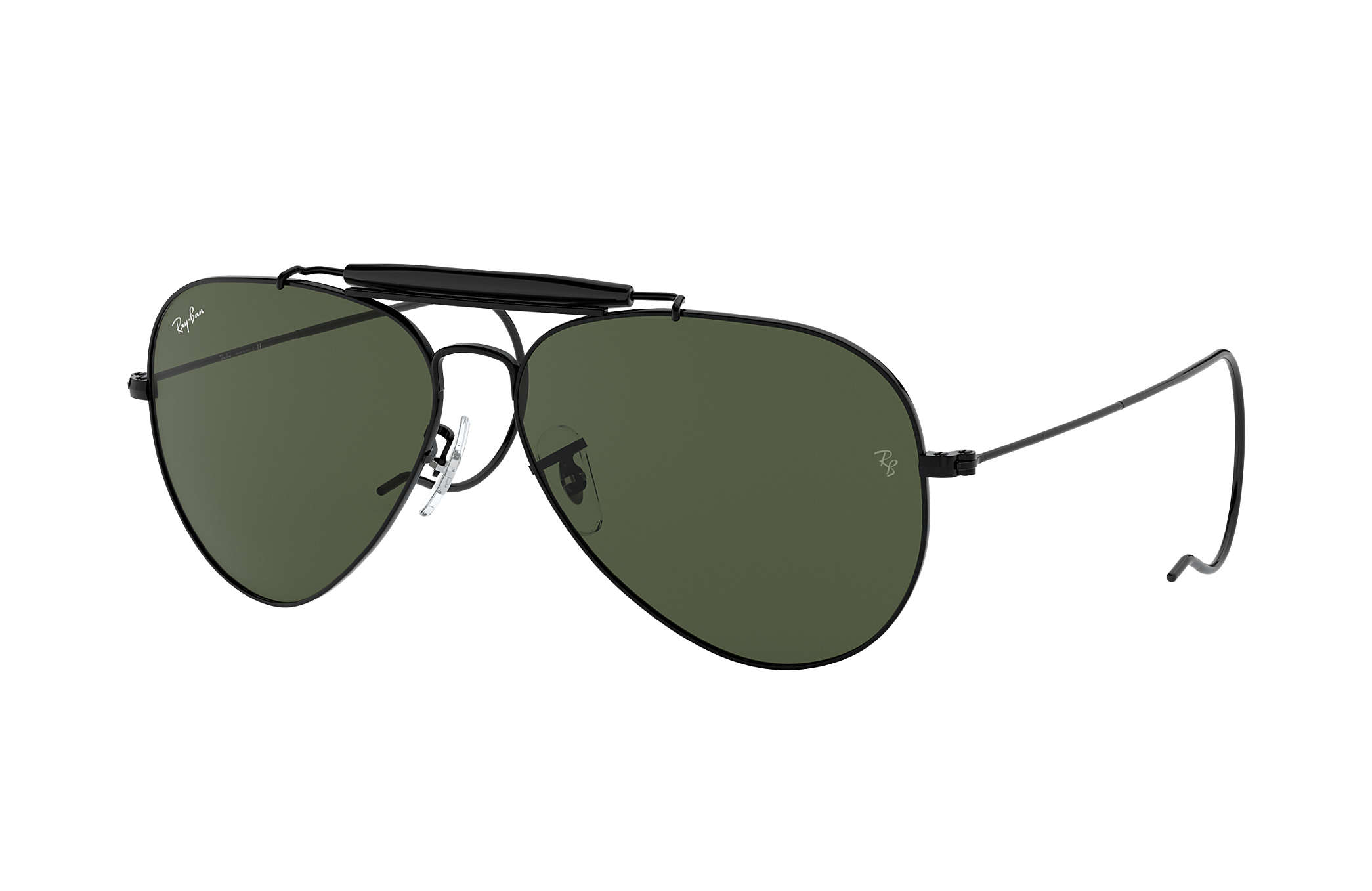 all black ray ban aviators p8i9  Ray-Ban 0RB3030-OUTDOORSMAN Black SUN