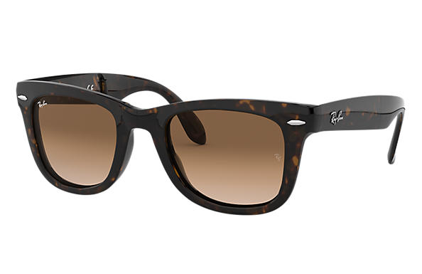 ray ban glasses foldable  ray ban 0rb4105 wayfarer folding classic tortoise sun
