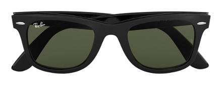ray bans sunglasses p0t4  Ray-Ban ORIGINAL WAYFARER CLASSIC Black with Green Classic G-15 lens