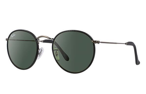 ray ban rb3475q sunglasses  ray ban 0rb3475q round craft black; gunmetal sun