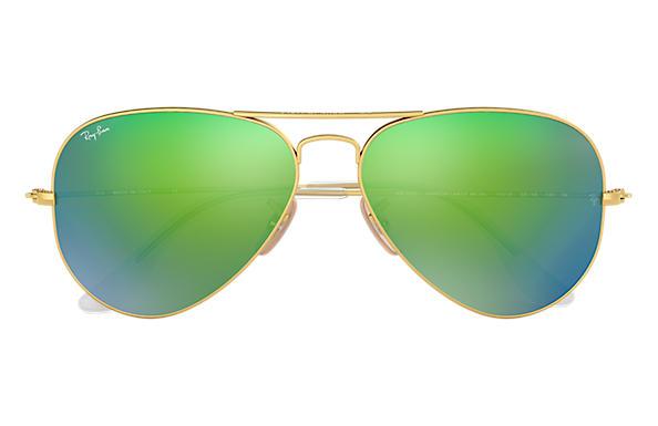 green aviator sunglasses  Ray-Ban Aviator Flash Lenses Gold, RB3025