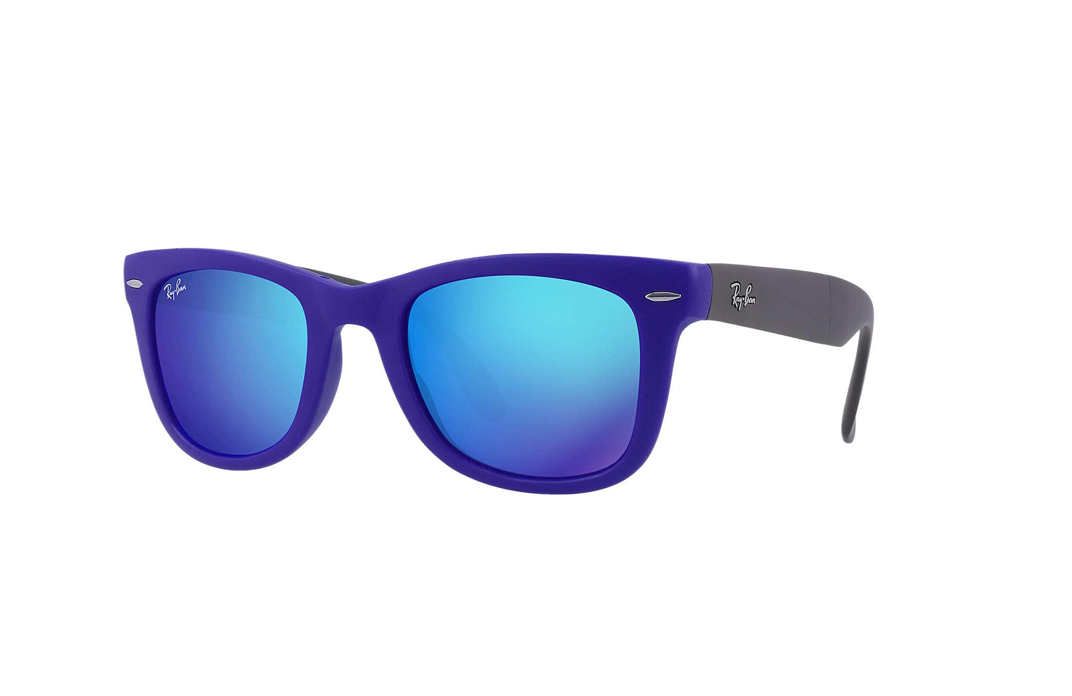 ray ban folding wayfarer on sale  ray ban wayfarer folding flash lenses blue with blue flash lens