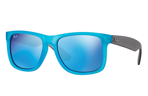 Ray-Ban 0RB4165-JUSTIN COLOR MIX Light Blue; Grey SUN