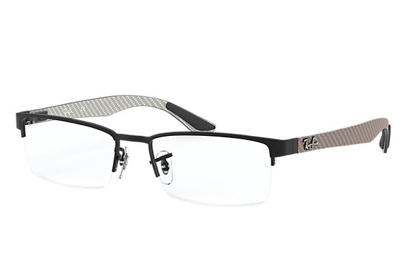 ray ban 0rx8412 rb8412 black greysilver optical