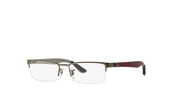 Ray-Ban 0RX8412-RB8412 Gunmetal; Red,Silver OPTICAL