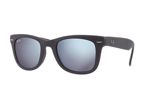 Ray-Ban 0RB4105-WAYFARER FOLDING FLASH LENSES Grigio SUN