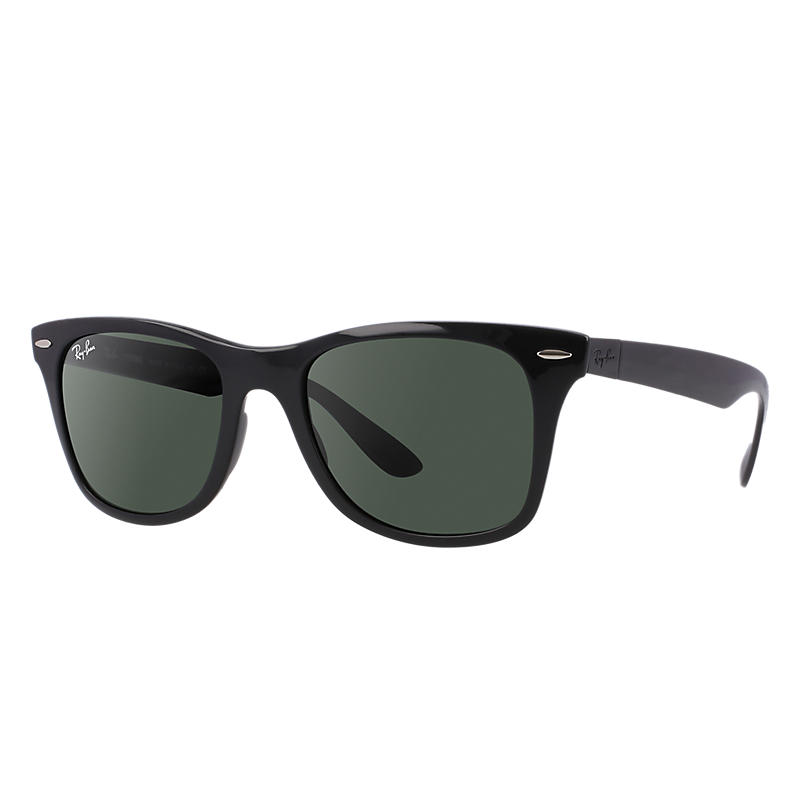 Ray-Ban Wayfarer Liteforce Black Sunglasses, Blue Lenses - Rb4195 8053672140590