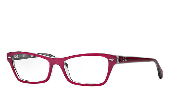 Ray-Ban 0RX5256-RB5256 Violet-Rouge,Gris OPTICAL