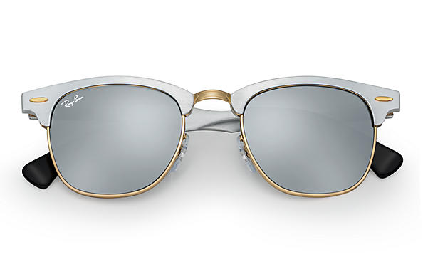 raybans glasses as5j  Ray-Ban 0RB3507-CLUBMASTER ALUMINUM Silver SUN